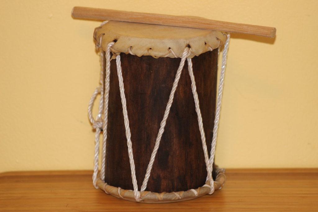 Maya Goat Hide Drum